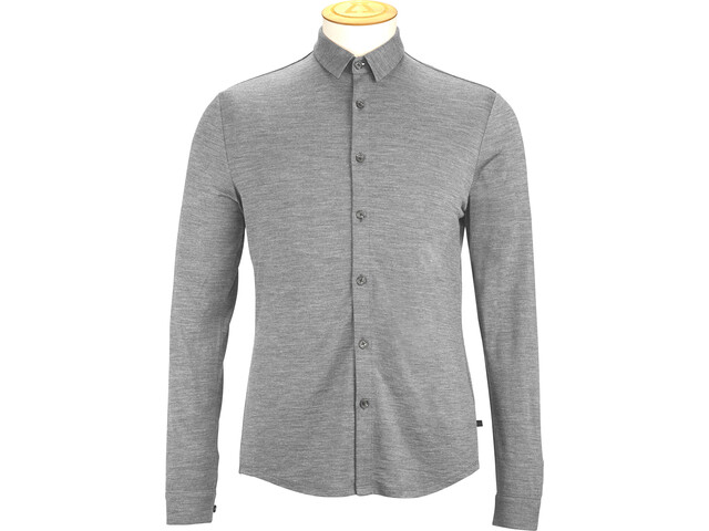 Alchemy Equipment 180GSM Single Camisa Jersey Merino Hombre, grey marle